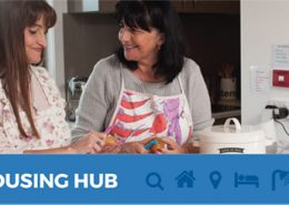 Housing Hub website homepage